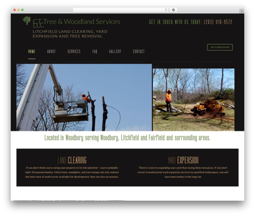 Arborist 2 - V8 WordPress template - ctwoodlandservices.com
