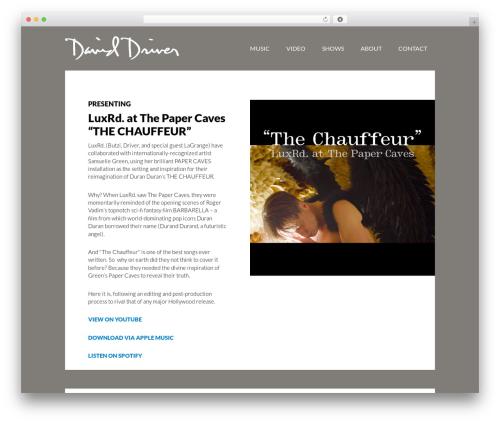 Author Pro WordPress theme - daviddriver.com