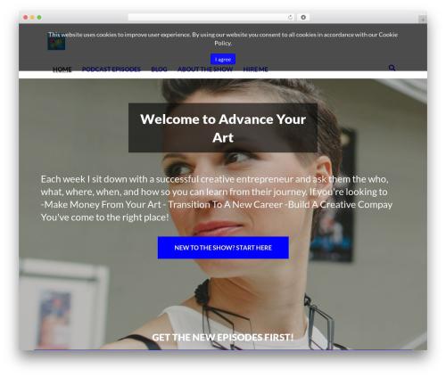 Beaver Builder Theme WordPress theme - advanceyourart.com