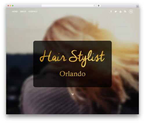 Best WordPress template Themify Simple - hairstylingorlando.com