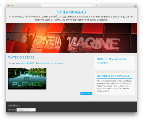 BlueGray theme WordPress - visioneimmagine.com