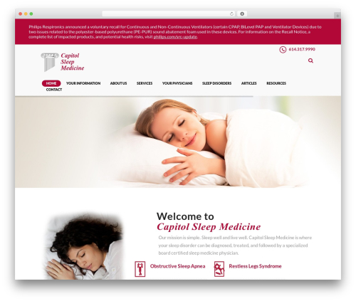 DENTALUX WordPress website template - capitolsleepmedicine.com