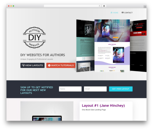 Divi best WordPress template - diyauthorwebsite.com