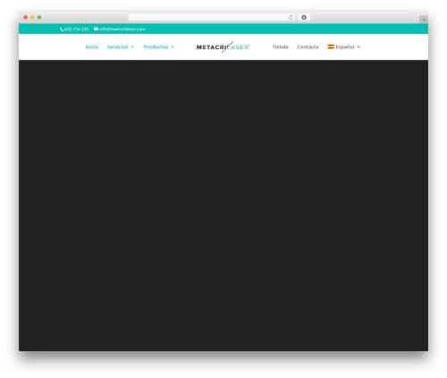 Divi WordPress theme design - metacrilaser.com