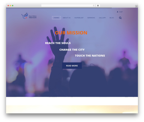 Grace-church WordPress theme - peacemakerstabernacle.com