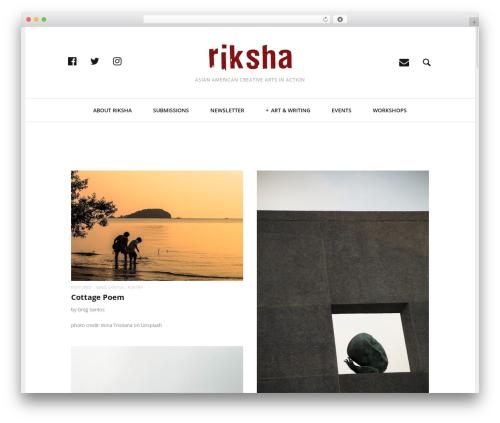 Heap best WordPress template - riksha.com