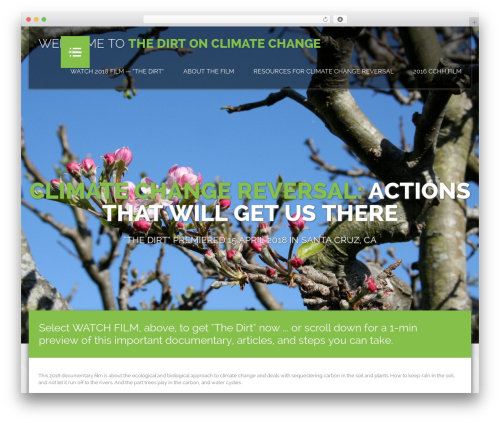 Honma top WordPress theme - climatechangehitshome.com