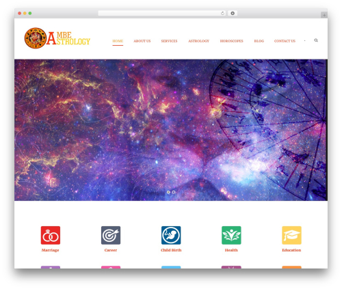 Hotel Master best hotel WordPress theme - ambeastrology.com
