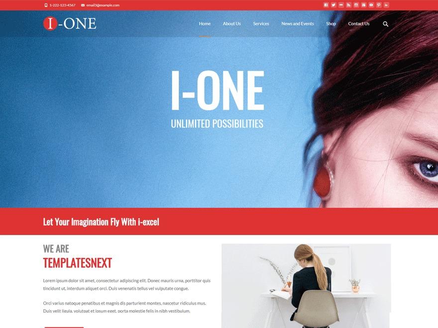 i-one WordPress portfolio theme