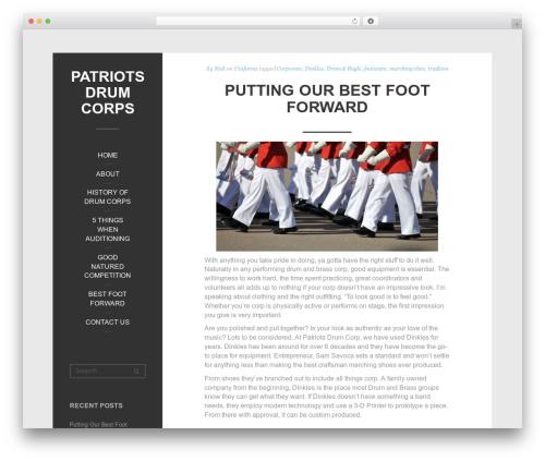 Impronta free WordPress theme - patriotsdrumcorps.com