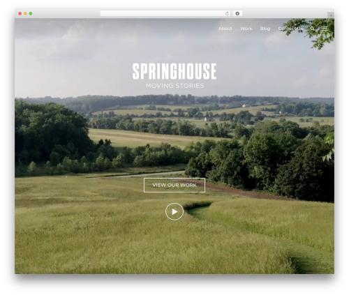 Inspiro company WordPress theme - springhousefilms.com
