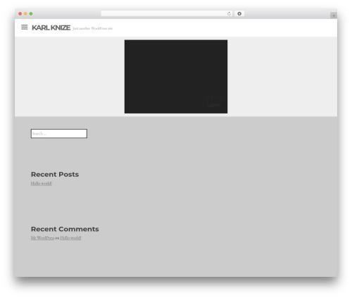 Lookbook best WordPress template - karlknize.com