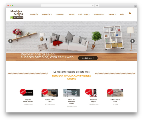 Merchandiser WordPress website template - mueblesonlinestock.com