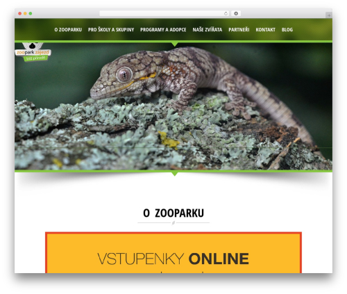 NatureWPThemes WordPress theme - zoopark-zajezd.cz