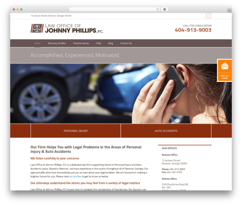 Project X v16 WordPress template for business - phillipspersoanlinjurylaw.com
