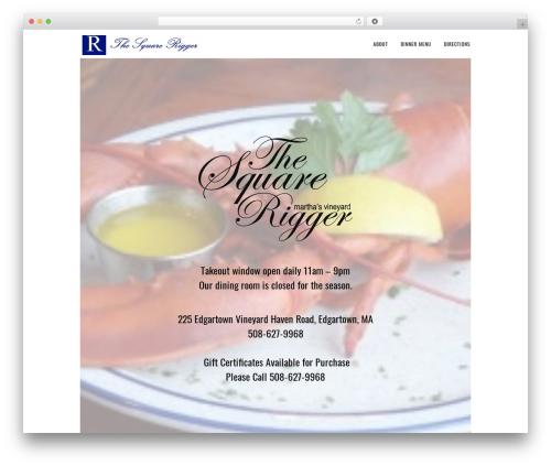 Sage best restaurant WordPress theme - squareriggerrestaurant.com