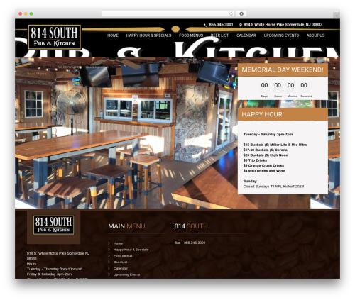 SKT Coffee theme WordPress free - 814southpub.com