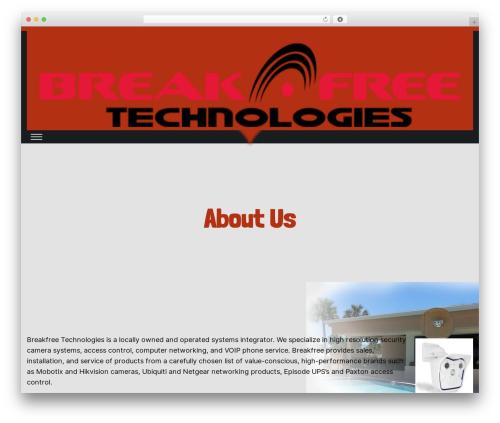 Sleeky free website theme - breakfreetechnologies.com