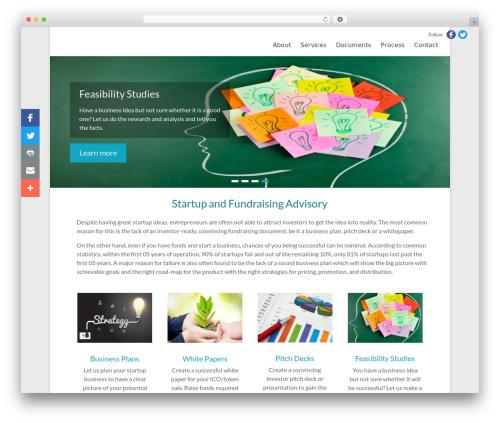 Free WordPress Easy Sidebar Menu Widget plugin - businessplanup.com