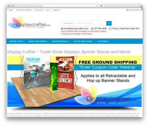 StoreVilla WordPress theme free download - displaycrafter.com