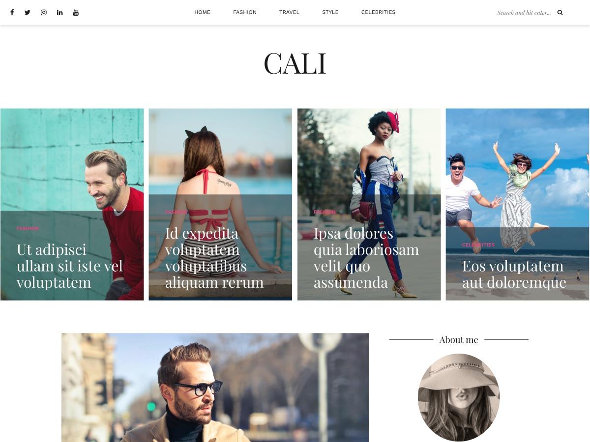 Template WordPress Cali