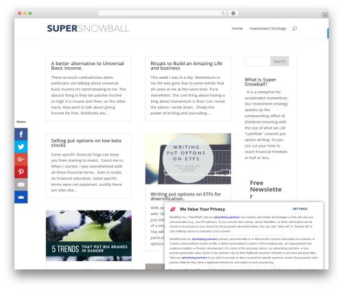 Theme WordPress Divi - supersnowball.com