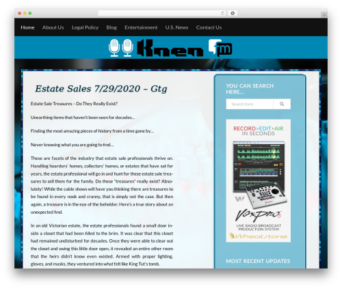Trope top WordPress theme - knenfm.com