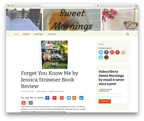 Twenty Thirteen template WordPress - chrissweetmornings.com