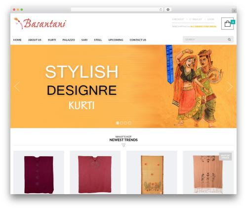 UberStore WordPress shopping theme - basantani.com