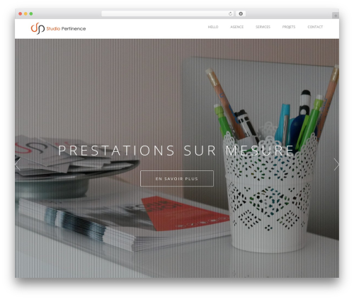 Visia best WordPress theme - studiopertinence.com