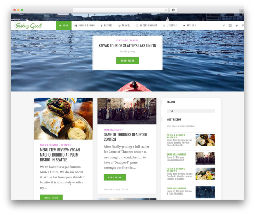 WordPress template Flow - feelng.com