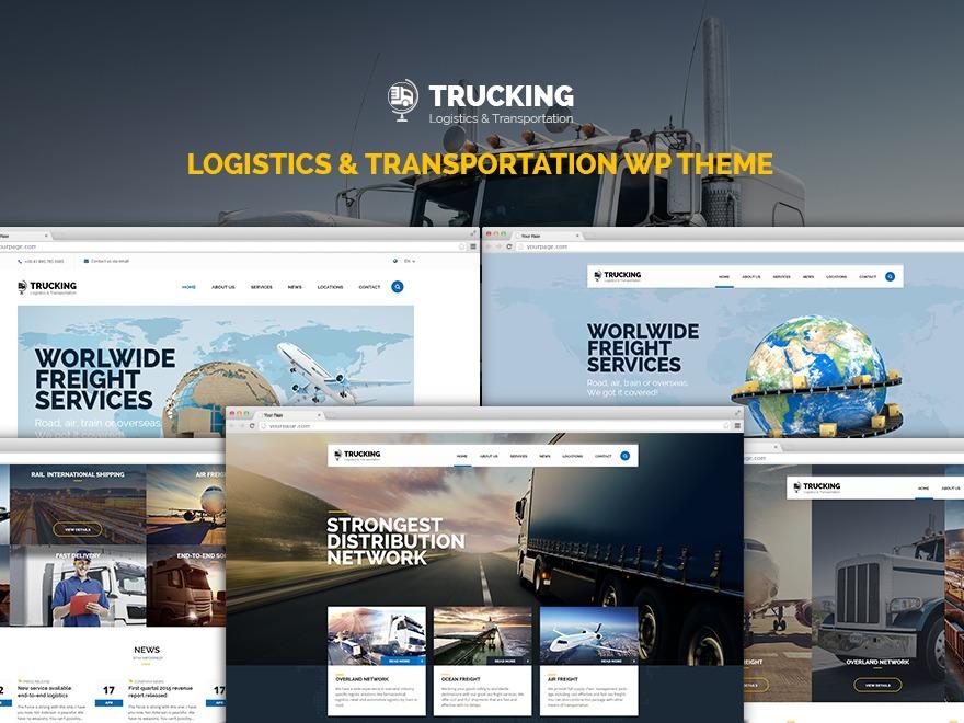 WordPress template Trucking Child Theme
