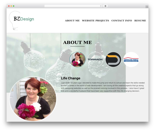 WordPress theme AccessPress Parallax - beckyzingler.com