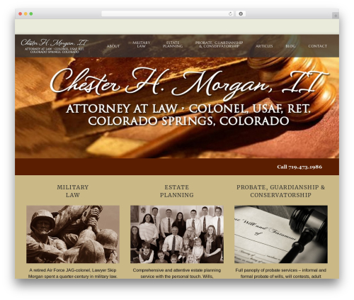 WordPress theme Aperio - skipmorganlaw.com