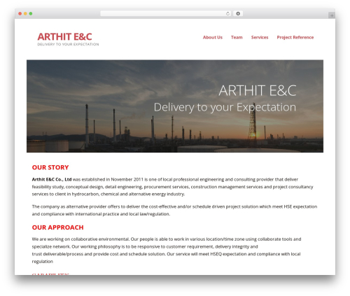 WordPress theme Ascension - arthit-ec.com
