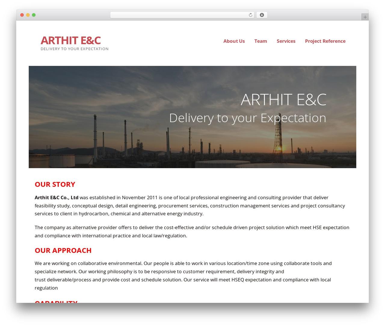 WordPress theme Ascension - arthit-ec.com