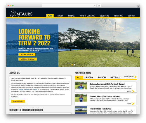 WordPress theme Sports Club - centaursgroup.com