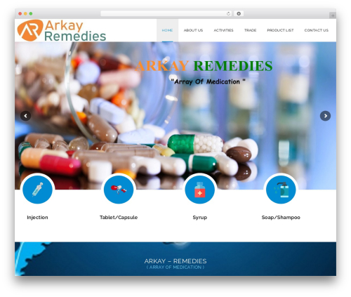 WordPress theme Veda - arkayremedies.com