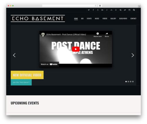 WP theme Metric - echobasement.com