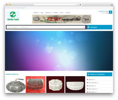 WPO Shopping WordPress ecommerce template - silverhandicraft.com