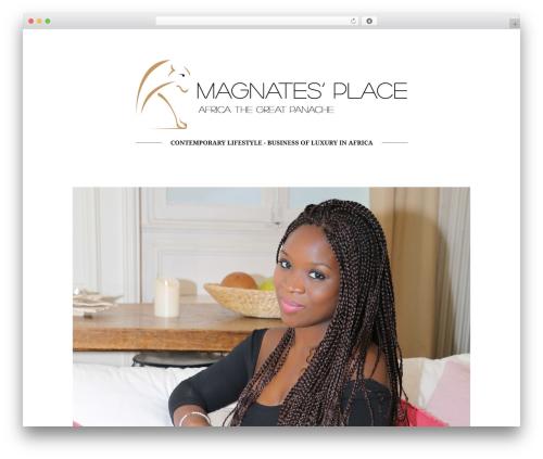 Allure WordPress template for business - magnatesplace.com