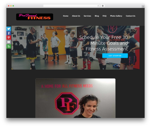 Ascension gym WordPress theme - profoundfit.com