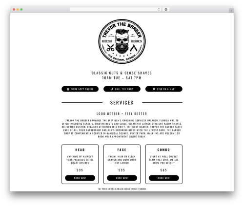 Avada WordPress theme design - trevorthebarber.com