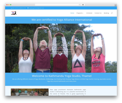 Best WordPress theme Divi - kathmandu-yoga.com