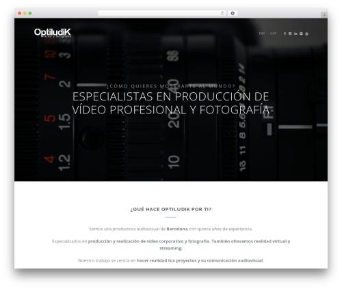 Best WordPress theme Landy - optiludik.com