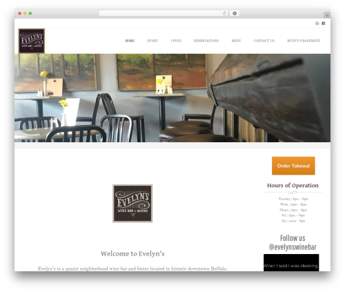 Brasserie Pro top WordPress theme - evelynswinebar.com