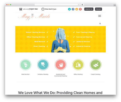 Cleaning Services template WordPress - magicmaidnow.com