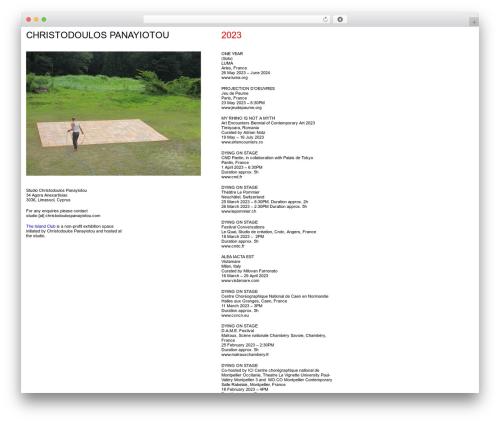 cp theme WordPress - christodoulospanayiotou.com