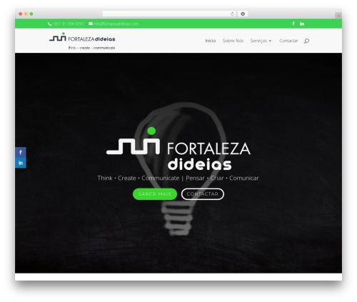 Divi WordPress theme - fortalezadideias.com
