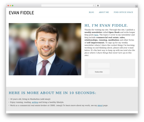FastBlog WordPress template free download - evanfiddle.com